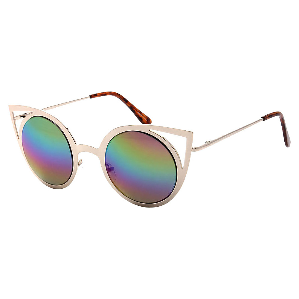 SW Global Womens Sexy Elegant Cateye UV400 Sunglasses Gold Rainbow - SW Global Eyewear - Fashion Accessories, Eyewear