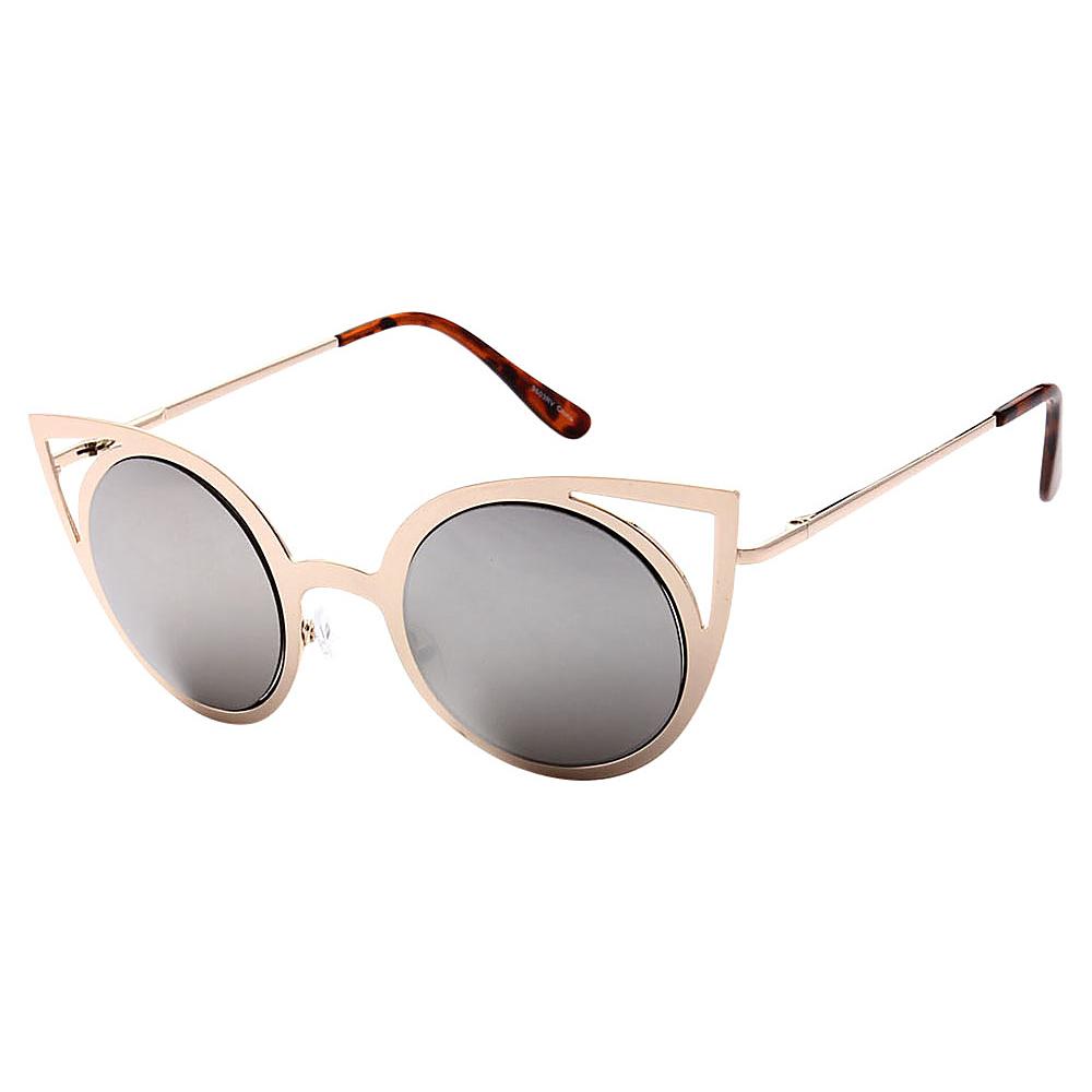 SW Global Womens Sexy Elegant Cateye UV400 Sunglasses Gold Silver - SW Global Eyewear - Fashion Accessories, Eyewear