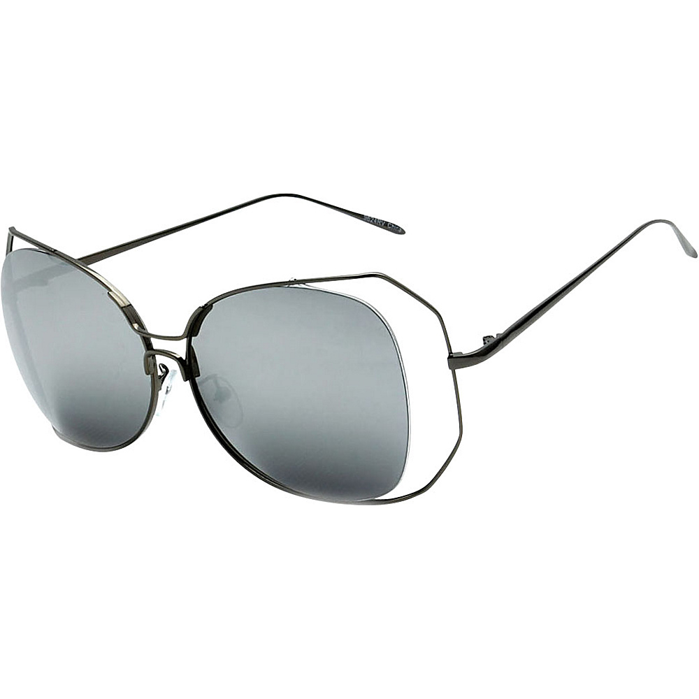 SW Global Womens Urban Trendy Double Frame Oversized Sunglasses Black - SW Global Eyewear - Fashion Accessories, Eyewear