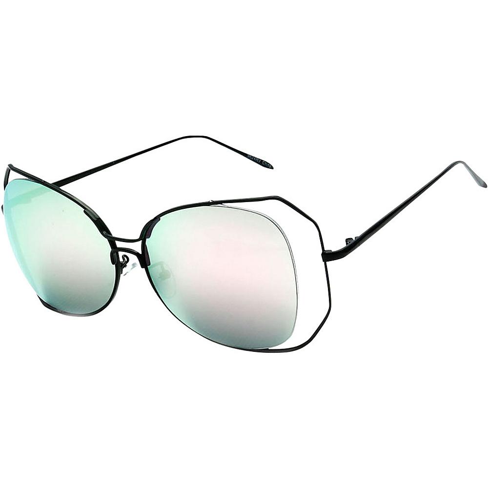 SW Global Womens Urban Trendy Double Frame Oversized Sunglasses Green - SW Global Eyewear - Fashion Accessories, Eyewear