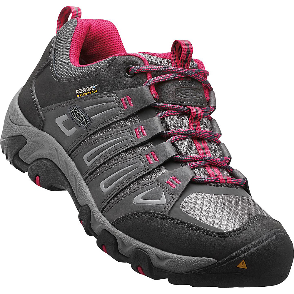 KEEN Womens Oakridge Waterproof Boot 10.5 - Magnet/Rose - KEEN Womens Footwear - Apparel & Footwear, Women's Footwear