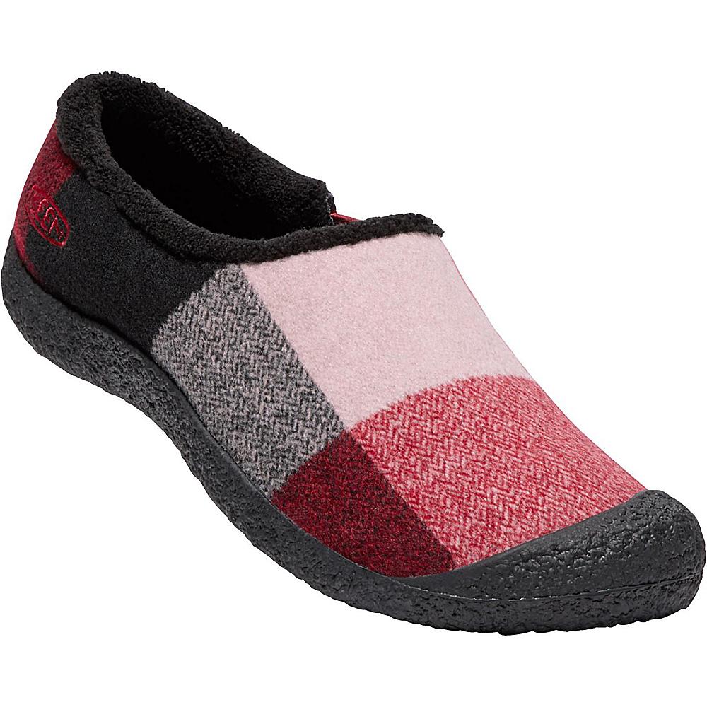 KEEN Womens Howser Slide Wool Slip-On 10.5 - Red Dahlia Wool - KEEN Womens Footwear - Apparel & Footwear, Women's Footwear