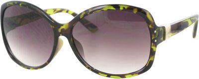 Bob Mackie Sunglasses Oversized Round Sunglasses Green Tortoise - Bob Mackie Sunglasses Eyewear