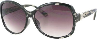 Bob Mackie Sunglasses Oversized Round Sunglasses White Tortoise - Bob Mackie Sunglasses Eyewear