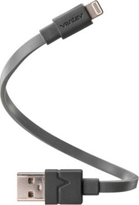 Ventev Charge Sync Lightning Cable 6 In. Grey - Ventev Electronic Accessories