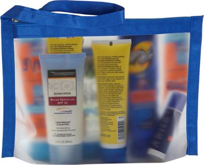 Flanabags ClearPack Gallon Size Travel Bag Blue Nylon - Flanabags Packing Aids