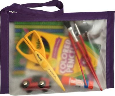 Flanabags ClearPack Gallon Size Travel Bag Plum - Flanabags Packing Aids