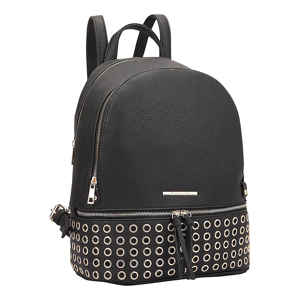 Dasein Round Studded Backpack Black - Dasein Manmade Handbags - Handbags, Manmade Handbags