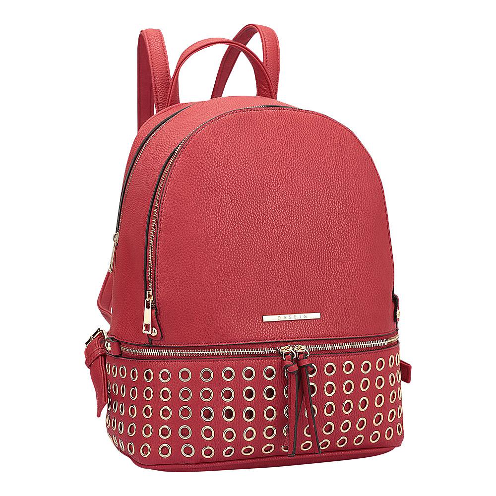 Dasein Round Studded Backpack Red - Dasein Manmade Handbags - Handbags, Manmade Handbags