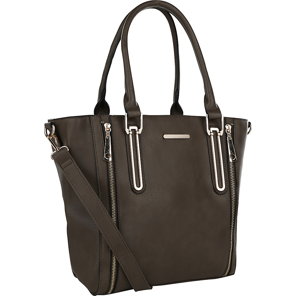 MKF Collection by Mia K. Farrow Elsy Extravagant Tote Mud - MKF Collection by Mia K. Farrow Manmade Handbags - Handbags, Manmade Handbags