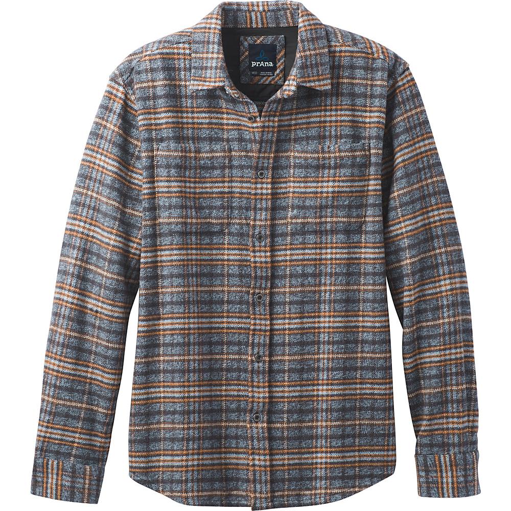 PrAna Brayden Long Sleeve Shirt L - Aspen Blue - PrAna Mens Apparel - Apparel & Footwear, Men's Apparel