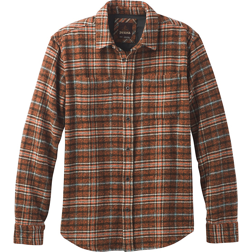 PrAna Brayden Long Sleeve Shirt L - Cayenne - PrAna Mens Apparel - Apparel & Footwear, Men's Apparel