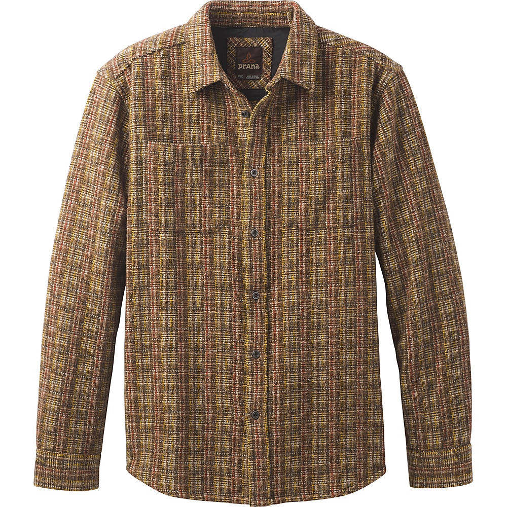 PrAna Brayden Long Sleeve Shirt M - Sepia - PrAna Mens Apparel - Apparel & Footwear, Men's Apparel