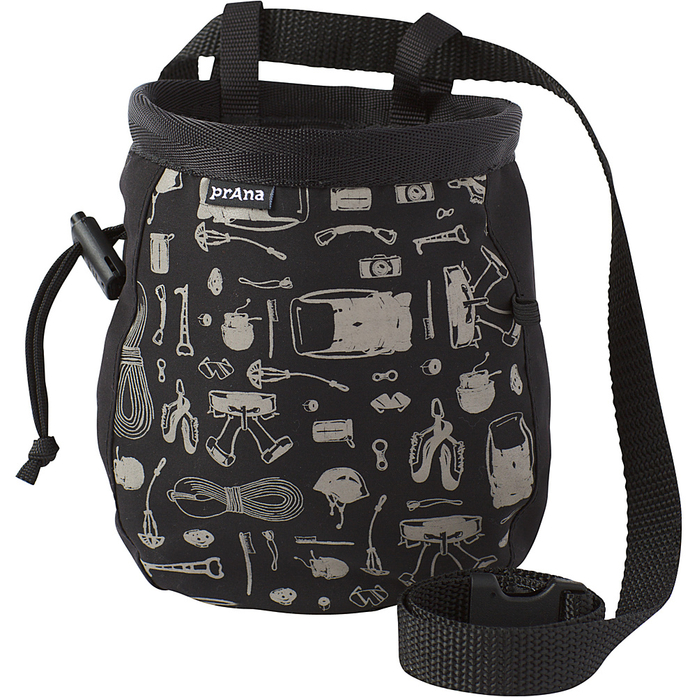 PrAna Graphic Chalk Bag with Belt Black - PrAna Sports Accessories - Sports, Sports Accessories