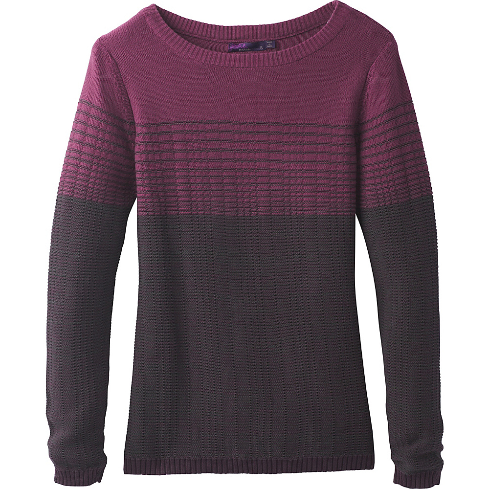 PrAna Mallorey Sweater XL - Dark Plum - PrAna Womens Apparel - Apparel & Footwear, Women's Apparel