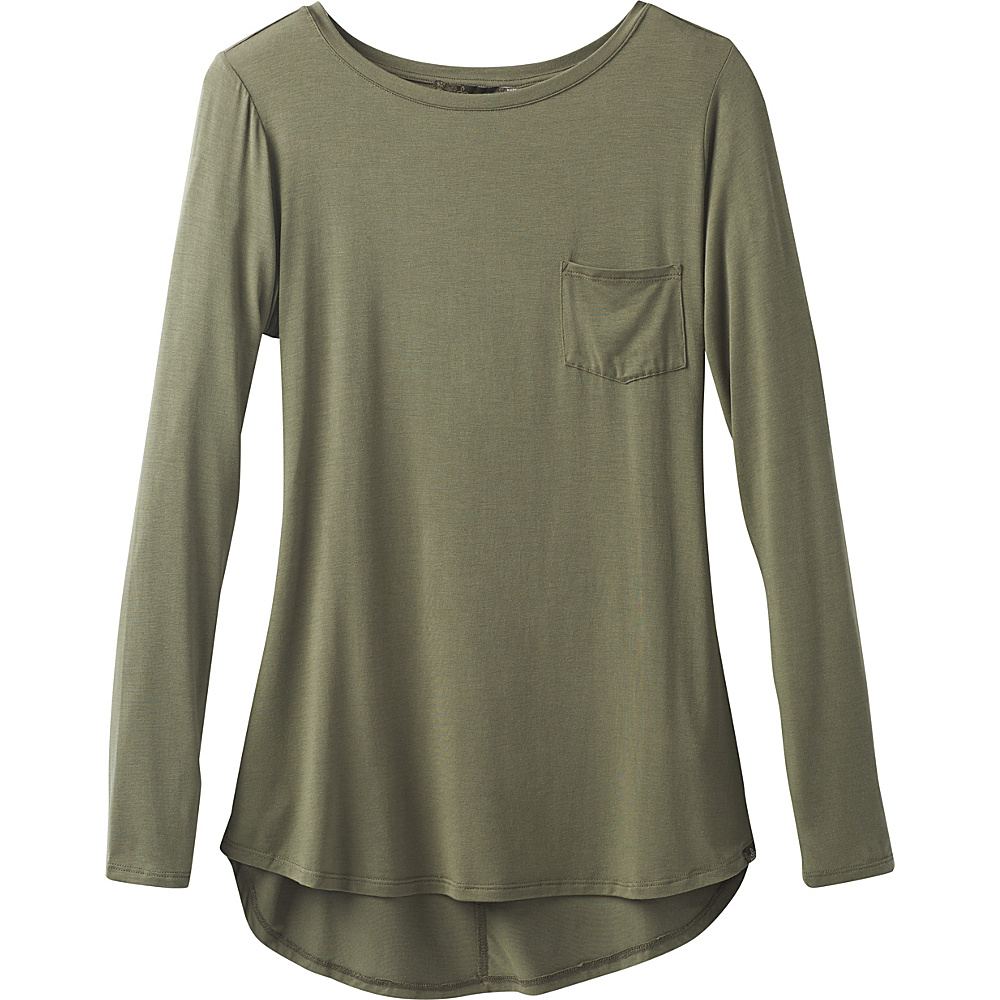 PrAna Foundation Long Sleeve Tunic L - Cargo Green - PrAna Womens Apparel - Apparel & Footwear, Women's Apparel