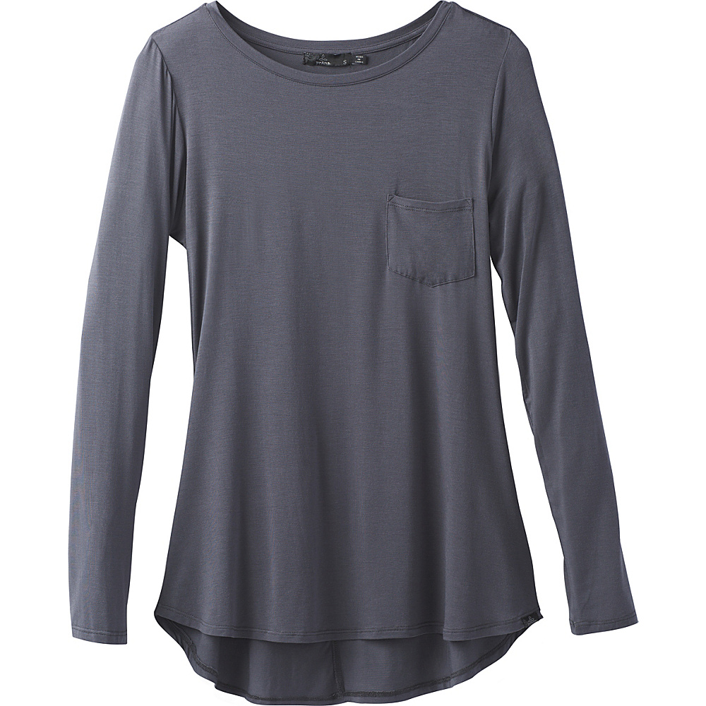 PrAna Foundation Long Sleeve Tunic S - Coal - PrAna Womens Apparel - Apparel & Footwear, Women's Apparel