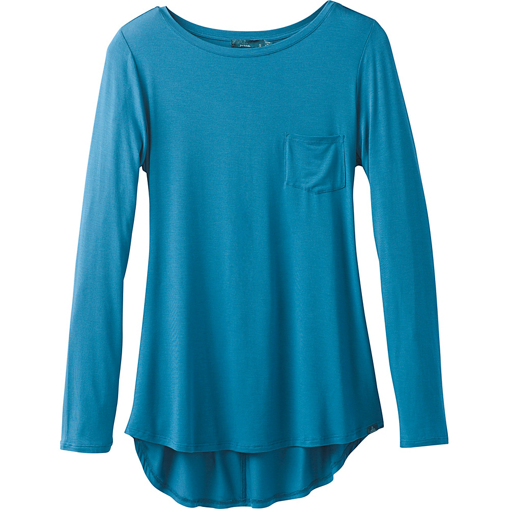 PrAna Foundation Long Sleeve Tunic L - River Rock Blue - PrAna Womens Apparel - Apparel & Footwear, Women's Apparel