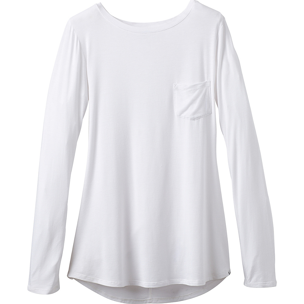 PrAna Foundation Long Sleeve Tunic L - White - PrAna Womens Apparel - Apparel & Footwear, Women's Apparel