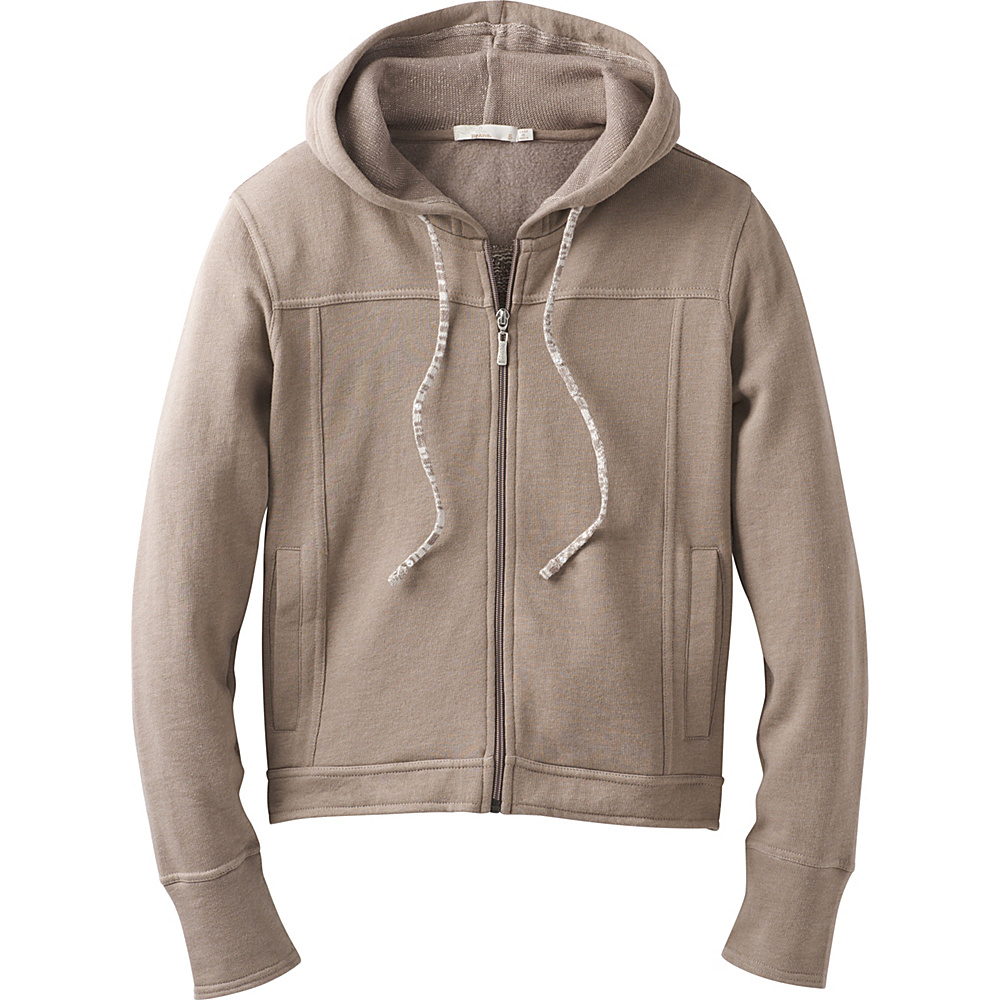 PrAna Ari Zip Up Fleece XS - Earth Grey - PrAna Womens Apparel - Apparel & Footwear, Women's Apparel