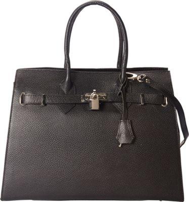Markese Top Handle Tote Black - Markese Leather Handbags