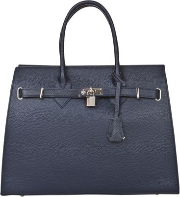 Markese Top Handle Tote Blue - Markese Leather Handbags
