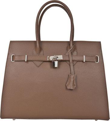 Markese Top Handle Tote Taupe - Markese Leather Handbags
