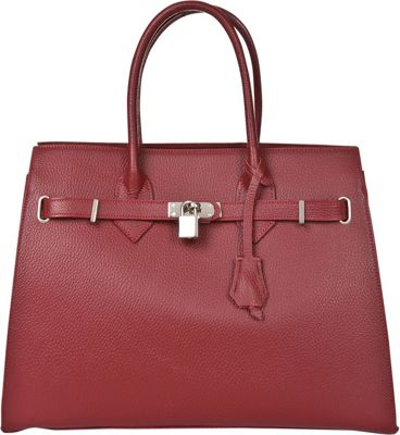 Markese Top Handle Tote Red - Markese Leather Handbags