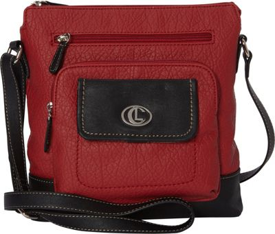 Aurielle-Carryland Flip Flap Crossbody Red/Black - Aurielle-Carryland Manmade Handbags