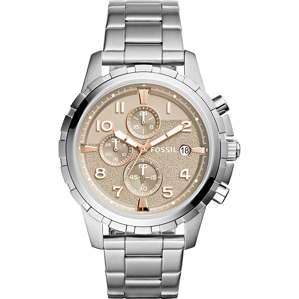 Fossil Dean Chronograph Stainless Steel Watch Silver - Fossil Watches - Fashion Accessories, Watches