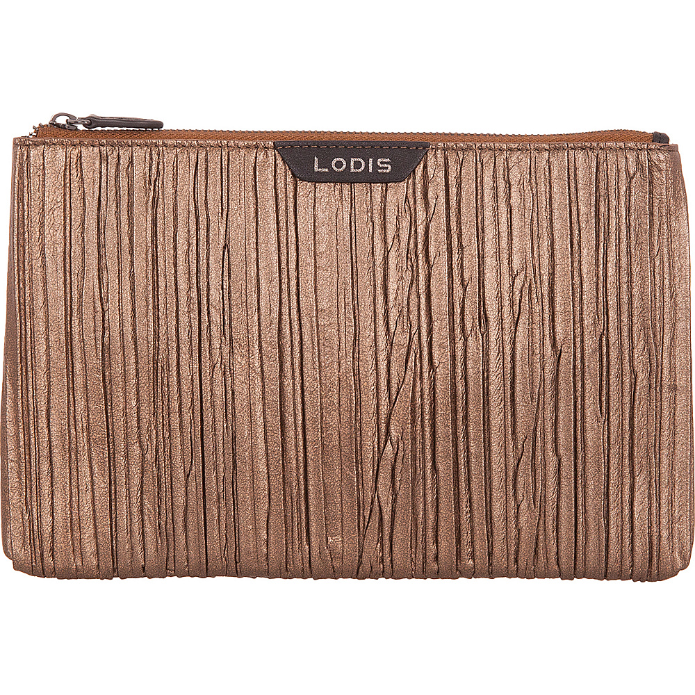 Lodis Pleasantly Pleated RFID Flat Pouch Copper - Lodis Womens Wallets - Women's SLG, Women's Wallets