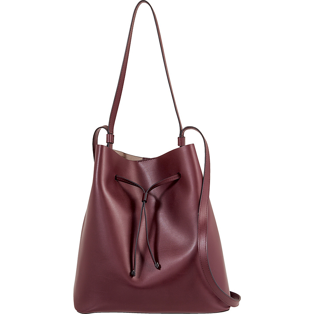 Lodis Silicon Valley RFID Halina Large Drawstring Crossbody Chianti/Taupe - Lodis Leather Handbags - Handbags, Leather Handbags