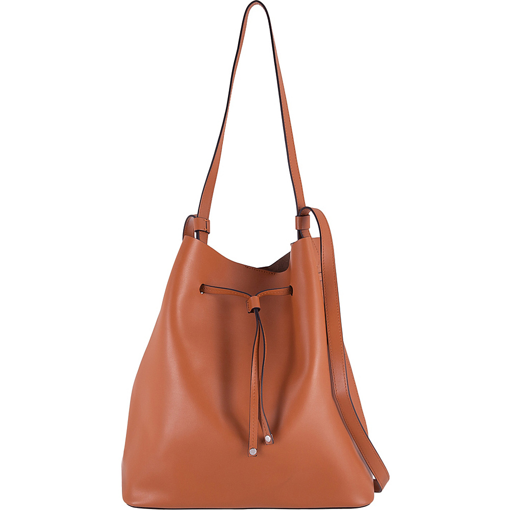 Lodis Silicon Valley RFID Halina Large Drawstring Crossbody Toffee/Taupe - Lodis Leather Handbags - Handbags, Leather Handbags