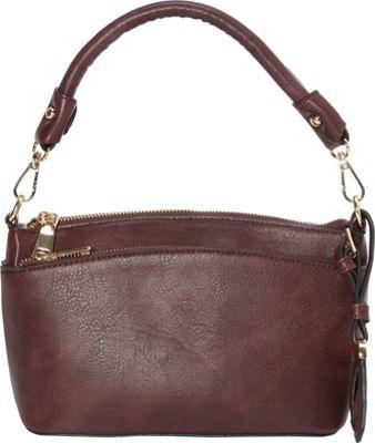 La Diva Millie Small Shoulder Bag Bordeaux - La Diva Manmade Handbags