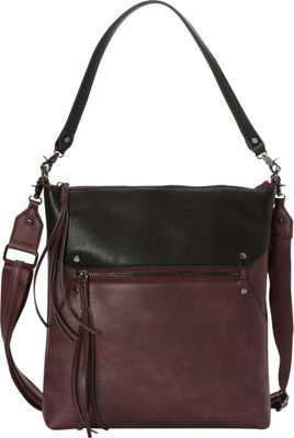 La Diva Austin Crossbody Bordeaux/Black - La Diva Manmade Handbags
