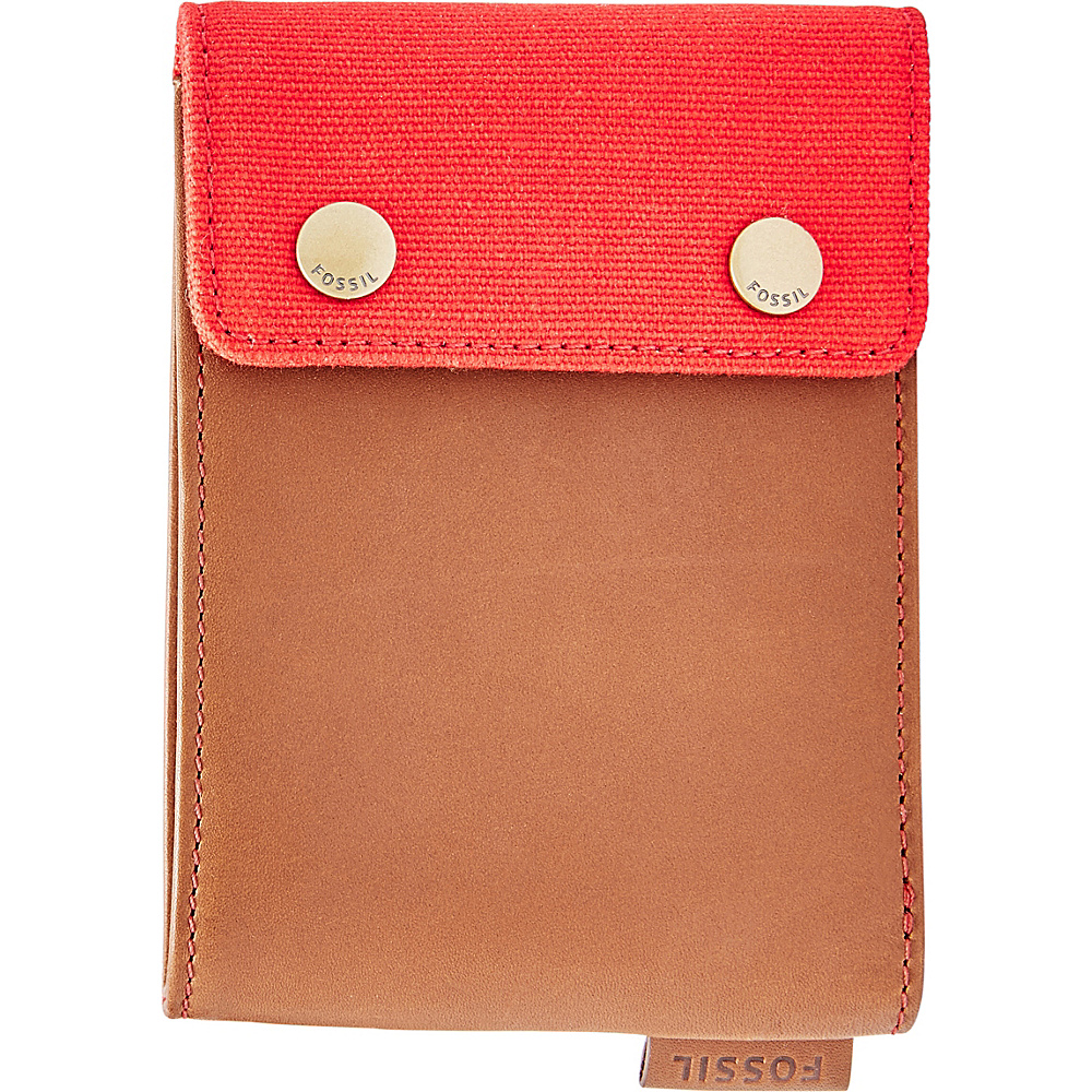 Fossil Rex RFID Bifold Red - Fossil Mens Wallets - Work Bags & Briefcases, Men's Wallets