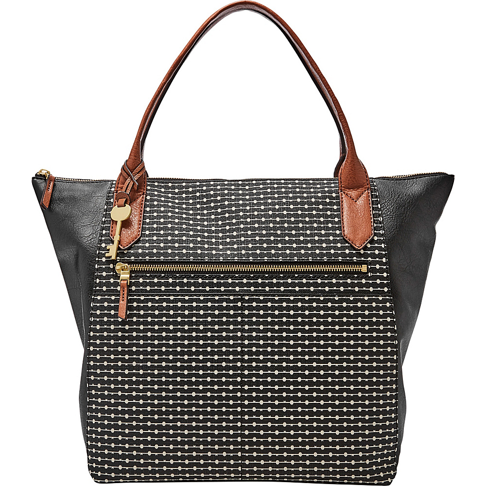 Fossil Fiona Tote Black - Fossil Manmade Handbags - Handbags, Manmade Handbags