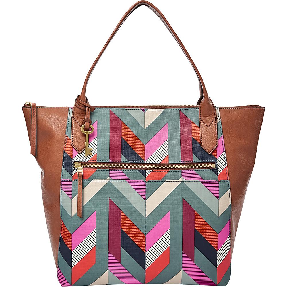Fossil Fiona Tote Blue - Fossil Manmade Handbags - Handbags, Manmade Handbags