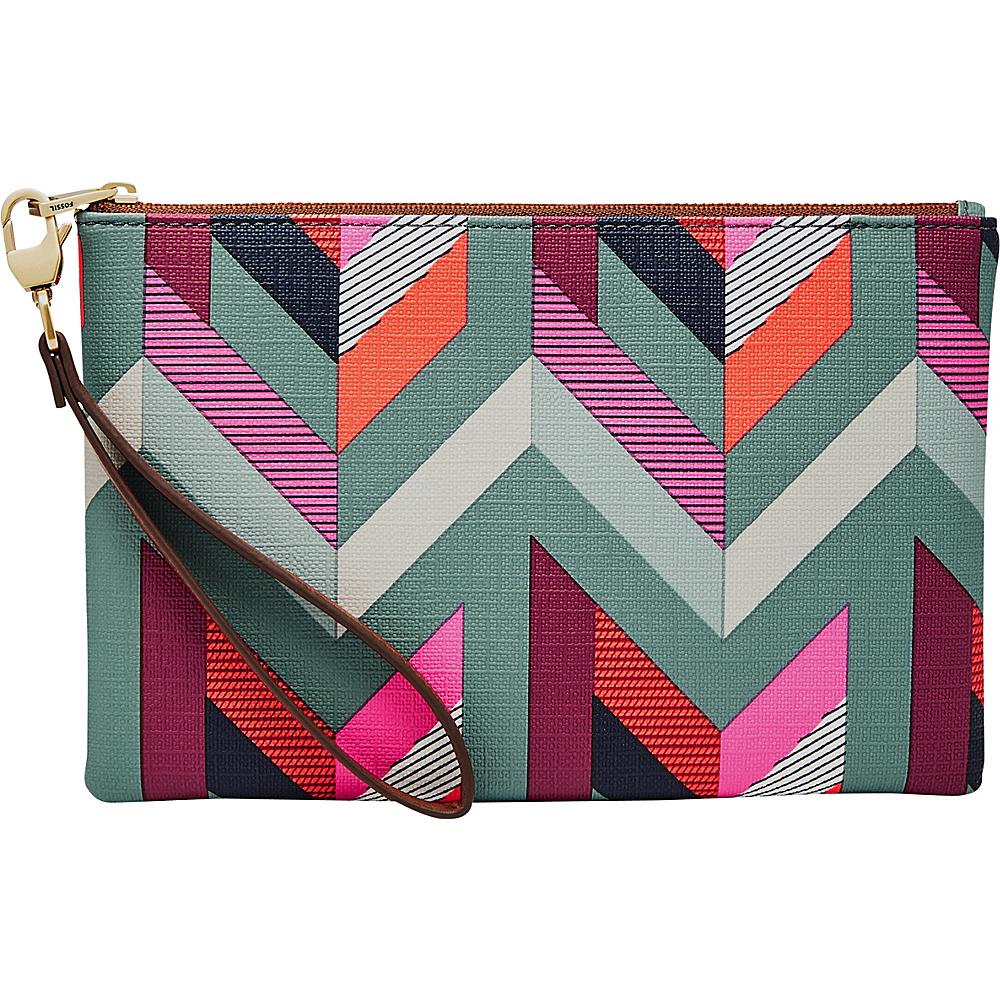 Fossil RFID Wristlet Chevron Blue - Fossil Designer Handbags - Handbags, Designer Handbags
