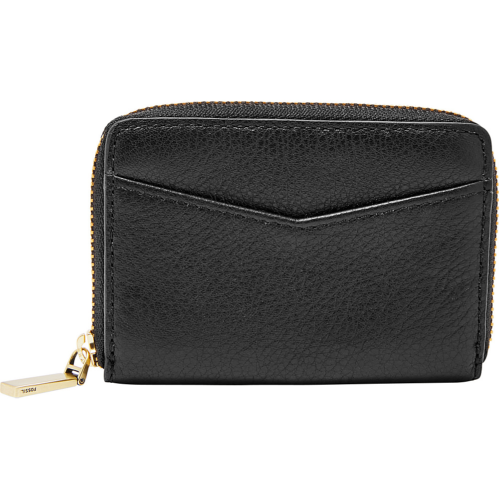 Fossil RFID Mini Zip Card Case Black - Fossil Womens Wallets - Women's SLG, Women's Wallets