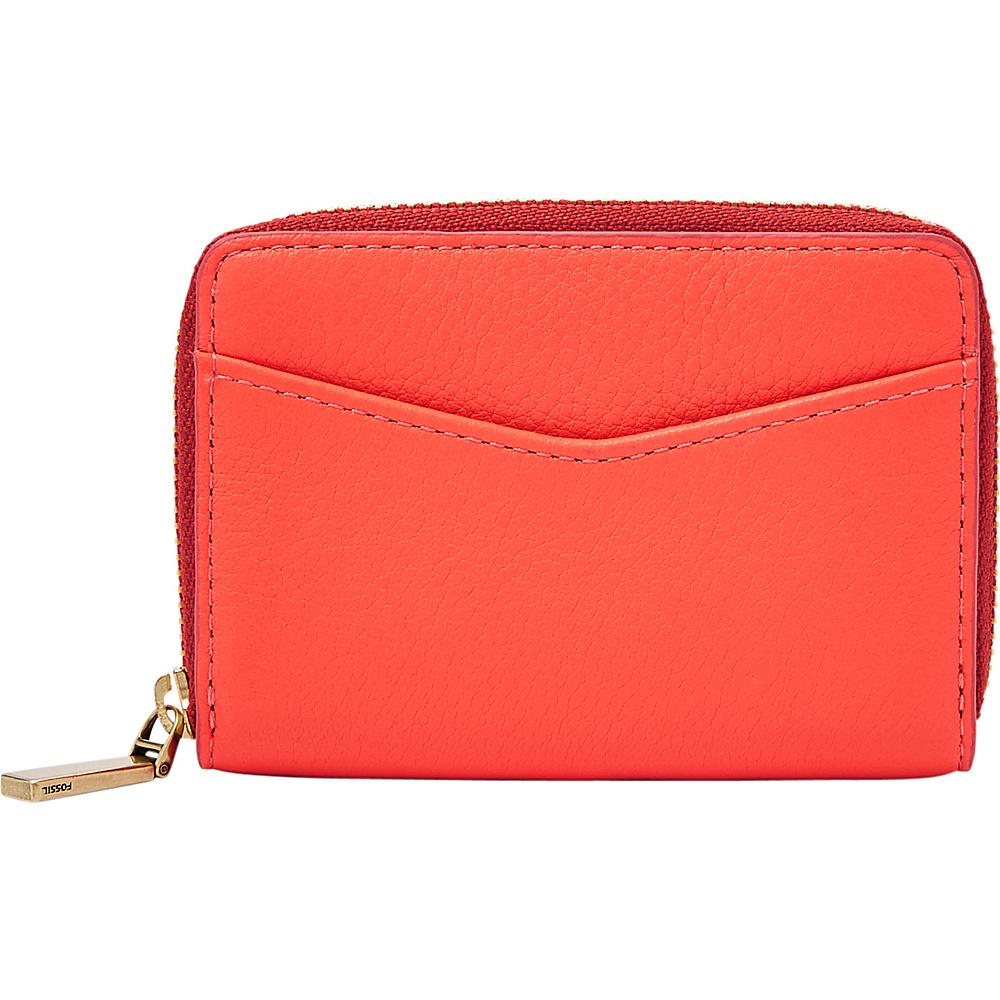 Fossil RFID Mini Zip Card Case Lava - Fossil Womens Wallets - Women's SLG, Women's Wallets
