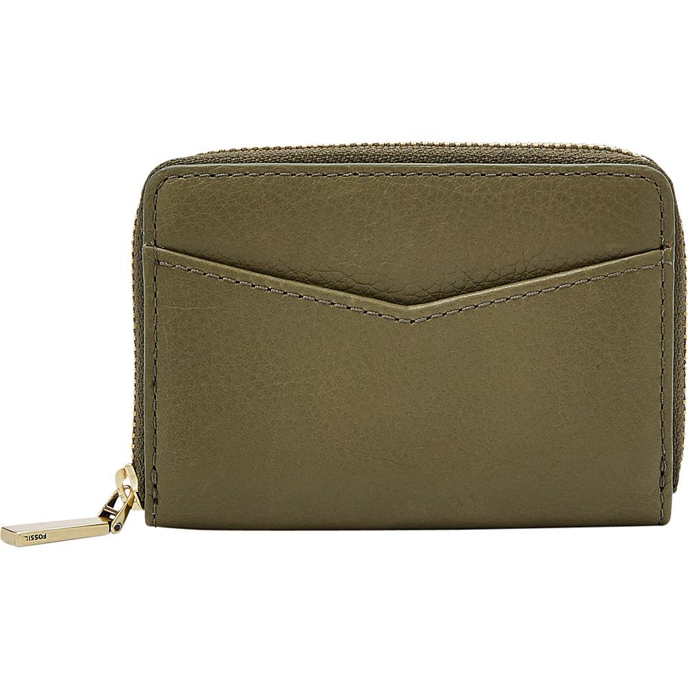 Fossil RFID Mini Zip Card Case Rosemary - Fossil Womens Wallets - Women's SLG, Women's Wallets