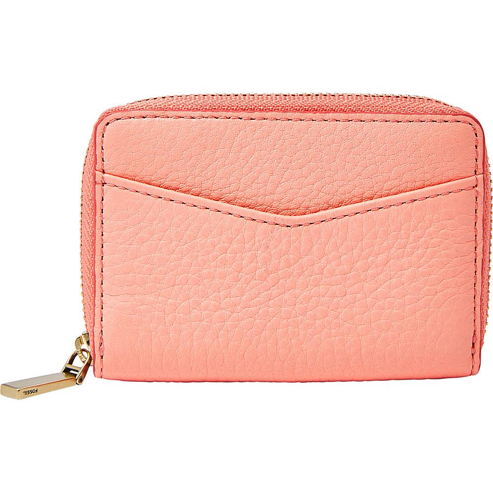 Fossil RFID Mini Zip Card Case Coral Cloud - Fossil Womens Wallets - Women's SLG, Women's Wallets