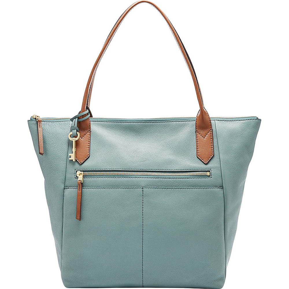 Fossil Fiona Tote Blue - Fossil Leather Handbags - Handbags, Leather Handbags