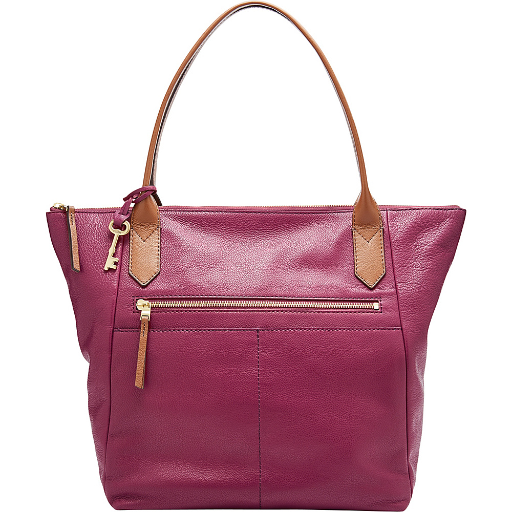 Fossil Fiona Tote Red - Fossil Leather Handbags - Handbags, Leather Handbags