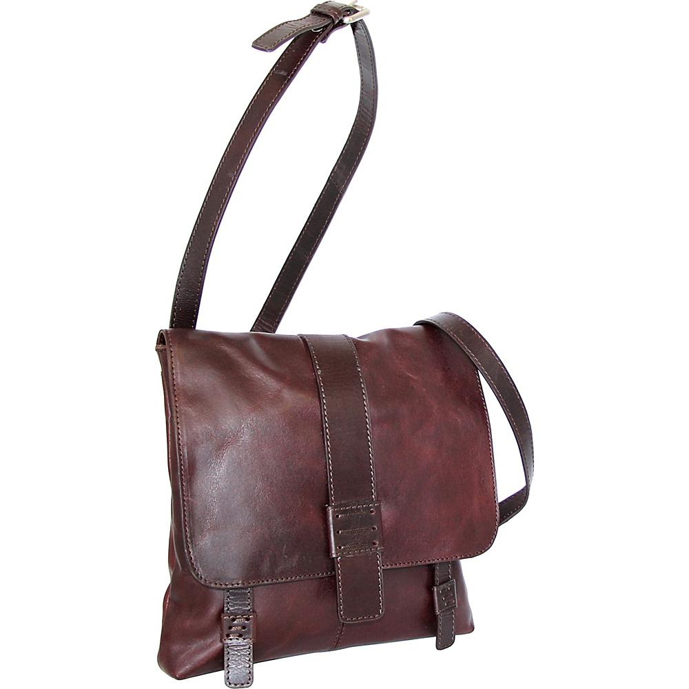 Nino Bossi Zoey Small Messenger Crossbody Chestnut - Nino Bossi Leather Handbags - Handbags, Leather Handbags