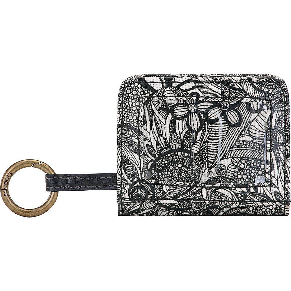 Sakroots Carryall Card Case Black & White Spirit Desert - Sakroots Womens Wallets - Women's SLG, Women's Wallets