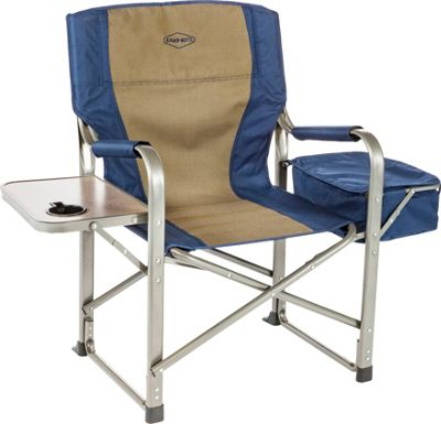 Kamp Rite Director's Chair with Side Table and Cooler Blue / Khaki - Kamp Rite Outdoor Accessories