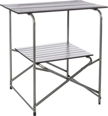 Kamp Rite 2 Tier EZ Prep Table Grey - Kamp Rite Outdoor Accessories