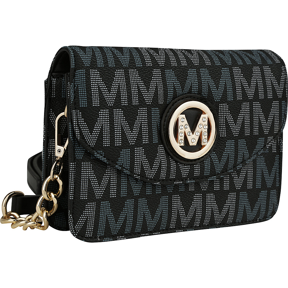 MKF Collection by Mia K. Farrow Ferrara Milan M Signature Crossbody Black - MKF Collection by Mia K. Farrow Manmade Handbags - Handbags, Manmade Handbags